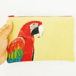 Pochette peint main Jacquot le ara kitsch lorraine 1