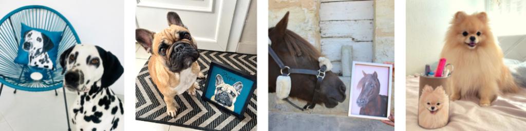 portrait animalier personnalisé kitsch lorraine